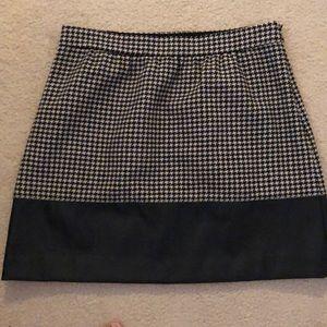 J.Crew leather lined herringbone skirt size 8